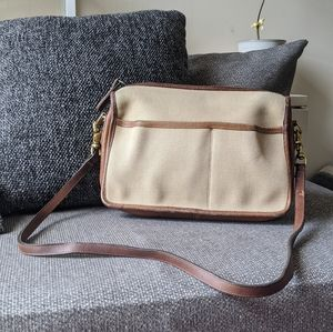 Vintage Coach Canvas Leather 028-6643 Made USA